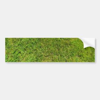 Plush Green Grass Pattern Texture Background Bumper Sticker