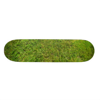 Plush Green Grass Pattern Texture Background Custom Skateboard