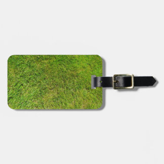 Plush Green Grass Pattern Texture Background Luggage Tag