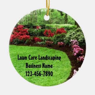 Plush Green Landscape Lawn Care Business Ceramic Ornament