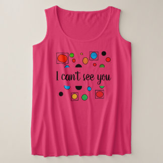 #plussize #visuallyimpaired tank top by DAL
