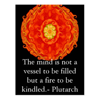 Plutarch quote education teacher learning postcard