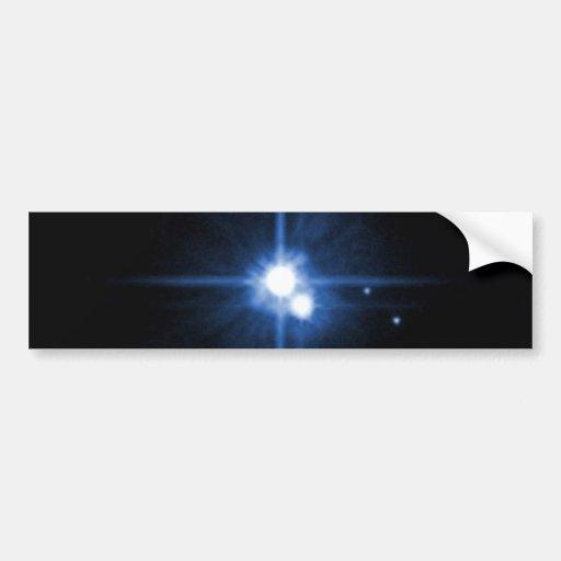 Pluto and Charon Bumper Sticker