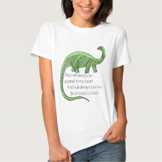 Pluto and the Brontosaurus Tee Shirt