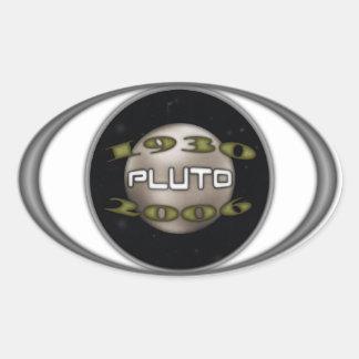Pluto Commemorative 1930-2006 Oval Sticker