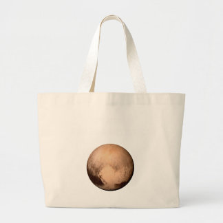 PLUTO FOR PLANETHOOD! JOIN THE CAMPAIGN! see below Jumbo Tote Bag