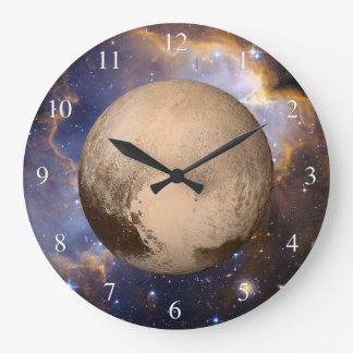 Pluto Heart Galaxy Nebula Stars Small Numbers Large Clock