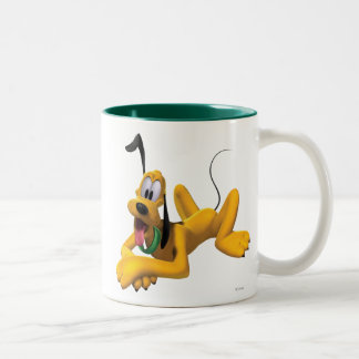 Pluto | Laying with Ear Up Two-Tone Coffee Mug
