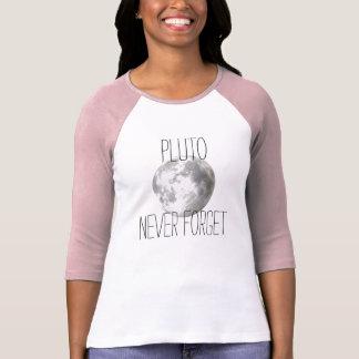 Pluto Never Forget Baseball Tee