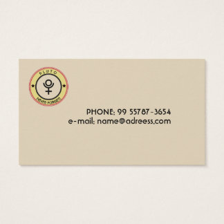 Pluto, never forget business card