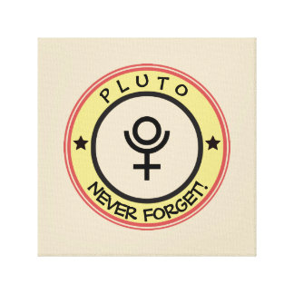 Pluto, never forget canvas print