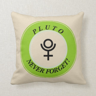 Pluto, never forget cushion