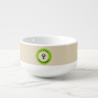 Pluto, never forget soup bowl with handle