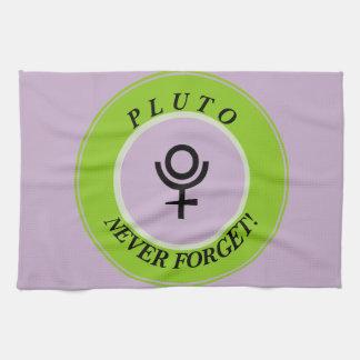 Pluto, never forget tea towel