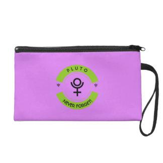 Pluto, never forget wristlet purses