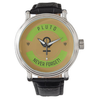 Pluto, never forget wristwatch