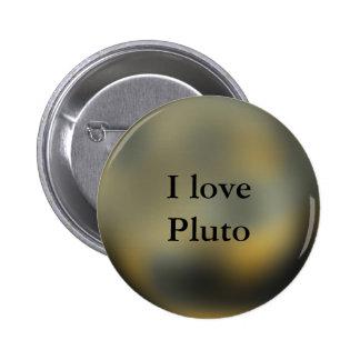 Pluto Planet 6 Cm Round Badge