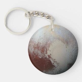 Pluto planet Single-Sided round acrylic key ring