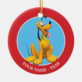 Pluto | Pluto Sitting Add Your Name Ceramic Ornament