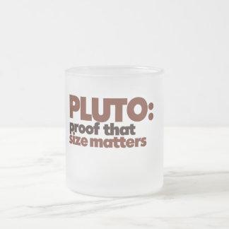 Pluto: Proof that Size Matters Coffee Mug