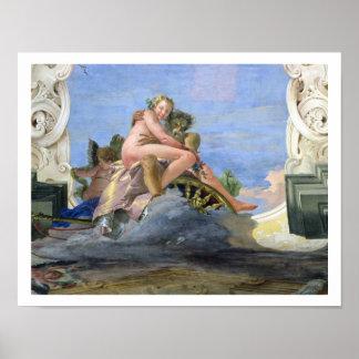 Pluto Raping Proserpine fresco Posters