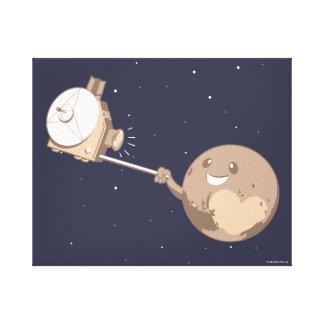 Pluto Selfie Canvas Print