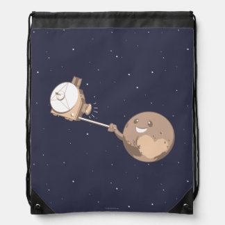 Pluto Selfie Drawstring Bag