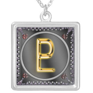 pluto sigil 2 silver plated necklace