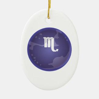 Pluto Symbol Ceramic Oval Ornament