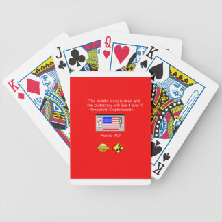 Plutocracy 4 ever bicycle playing cards