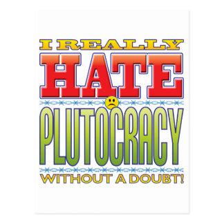 Plutocracy Hate Face Postcard