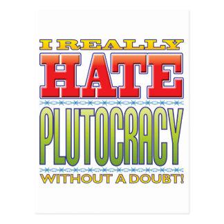 Plutocracy Hate Postcard