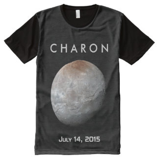 Pluto's Largest Moon: Charon All-Over Print T-Shirt