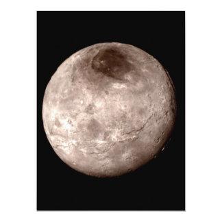 PLUTO'S MOON CHARON (solar system) ~ 17 Cm X 22 Cm Invitation Card