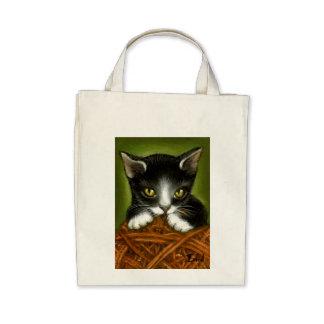 Plyaful kitten tote bag