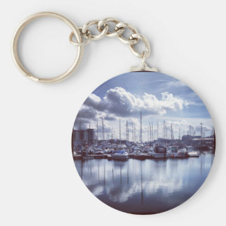 Plymouth boats basic round button key ring