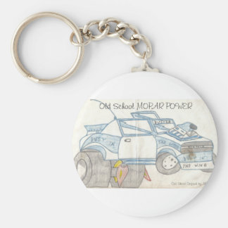 Plymouth Duster text Basic Round Button Key Ring