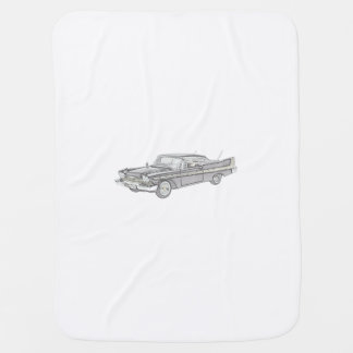 Plymouth Fury 1958 Baby Blanket