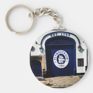 Plymouth Gin Basic Round Button Key Ring