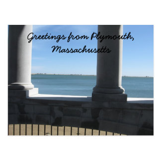 Plymouth Ma., view from Plymouth Rock Postcard
