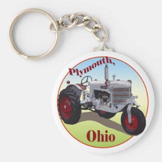 Plymouth, Ohio Basic Round Button Key Ring