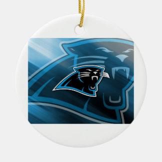 Plymouth Panthers Logo Ceramic Ornament