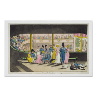 Plymouth Playhouse, plate from 'The Adventures of Poster
