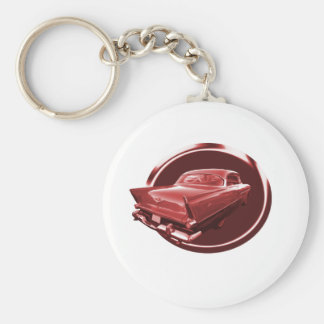 Plymouth Power Basic Round Button Key Ring