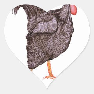 PLYMOUTH ROCK HEN, tony fernandes Heart Sticker