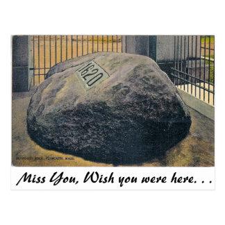 Plymouth Rock, Plymouth, Massachusetts Postcard