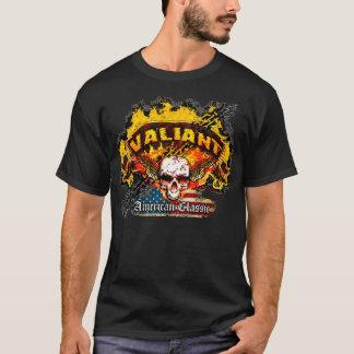 Plymouth Valiant - Burnout Banner Skull -n- Flag T-Shirt