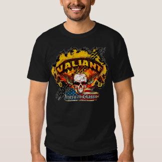 Plymouth Valiant - Burnout Banner Skull -n- Flag Tees