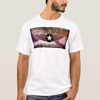 Plymouth Valiant Winged-Star Faded Flag Design T-Shirt