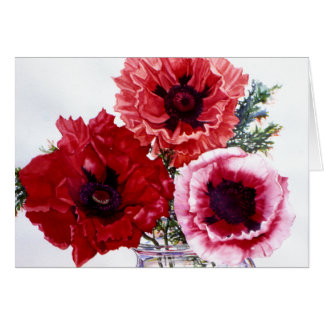 PMACarlson Poppies in a Glass Jar Card